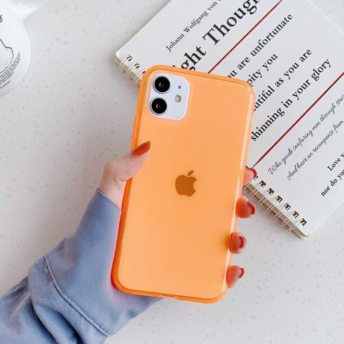 Simple Fluorescence Transparent Mobile Phone case for iPhone,