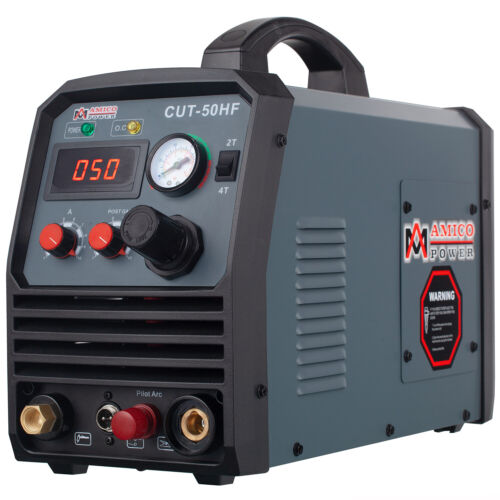 Amico CUT-50HF, 50 Amp Pro. Pilot Arc Plasma Cutter, 100~250V 4/5 in. Clean Cut