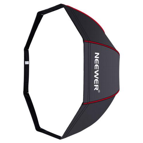 "Neewer 47"" Octagonal Softbox Umbrella with Red Edges for Canon Nikon Speedlite"