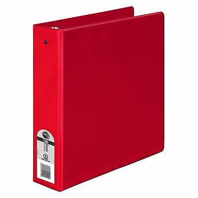 Wilson Jones Basic Round Ring Binder 2 Inch Capacity 8.5 X 11 Inches Red