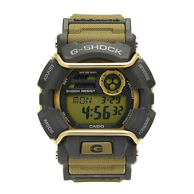 Casio G-Shock Men's Quartz World Time Gray Accent Green Resin 50mm Watch GD400-9