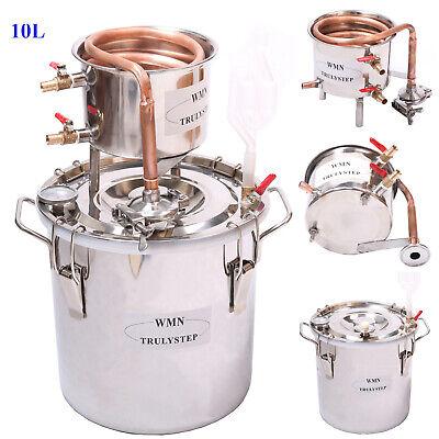NUEVO Cobre10 Litros Alambique Destilador De Alcohol Casero Whisky Licores Maker