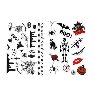 toos 36 Stk Temporär Tattoo Gruselig Spielen Spielspass (Kinder Spielen Halloween)