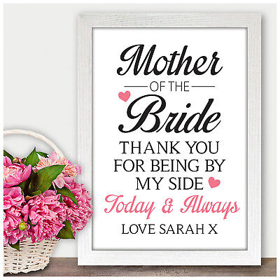 Personalised Mother of the Groom Bride Thank you Gifts from Bride Groom for Mum