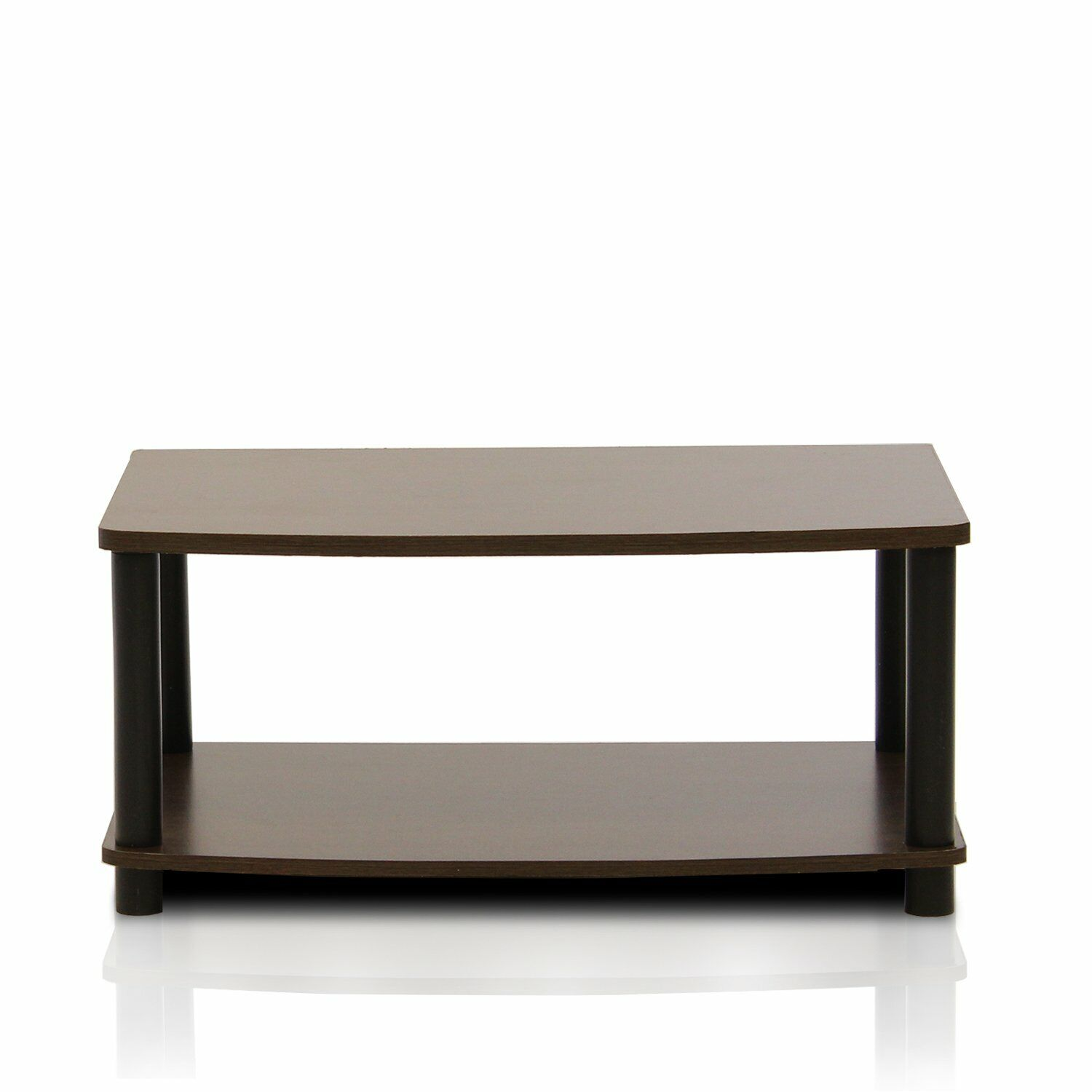 Furinno Turn-N-Tube No-Tools 2-Tier Elevated TV Stand for fo