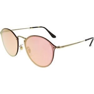 74ef50bfb9628 Ray-Ban Sunglasses Blaze Round Gold Pink Mirror Rb3574n 001 e4 59 ...
