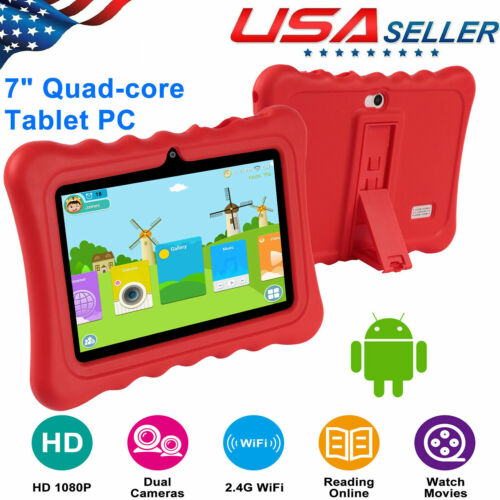 """Quad Core 7"""" Inch Android 4.4 Tablet Dual Camera 8GB WIFI Bu"""