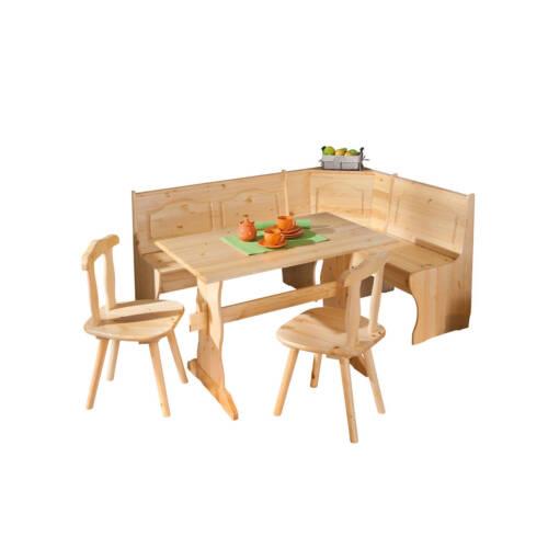 Eckbank Eckbankgruppe Bank Esstisch 2 Stühle Kiefer massiv Landhaus Küche NEU