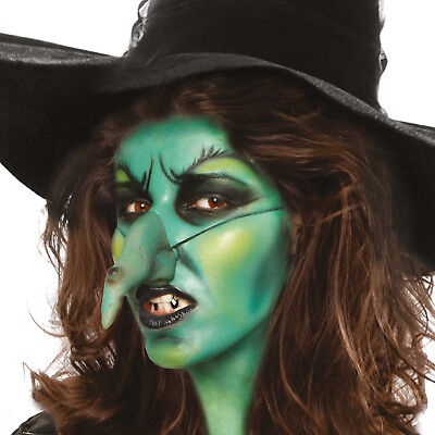 Scary Witch Makeup (Halloween witch make up kit - Fancy dress scary wicked witch face paint kit)