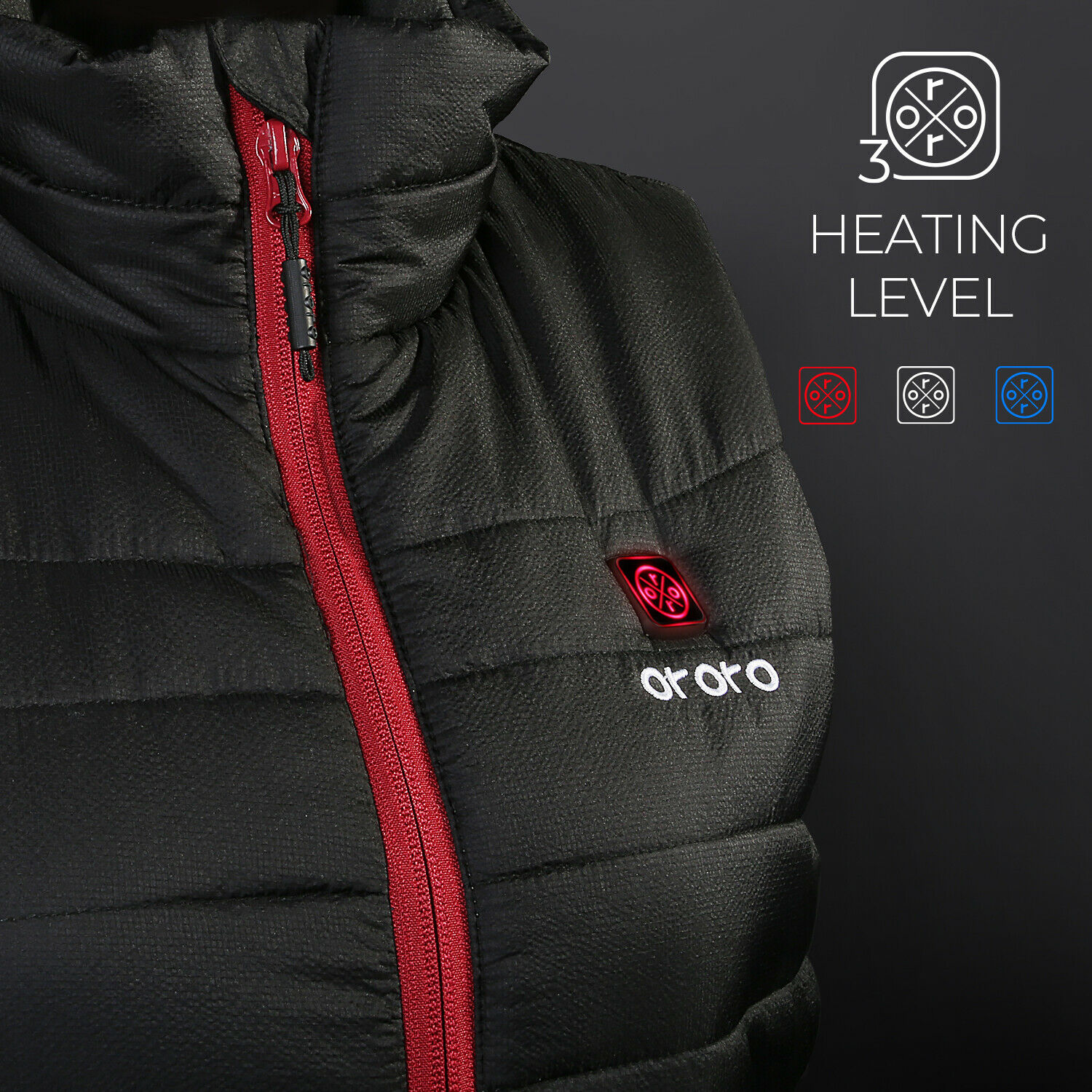 ORORO Women Heated Vest With Battery Water Resistant Sleevel