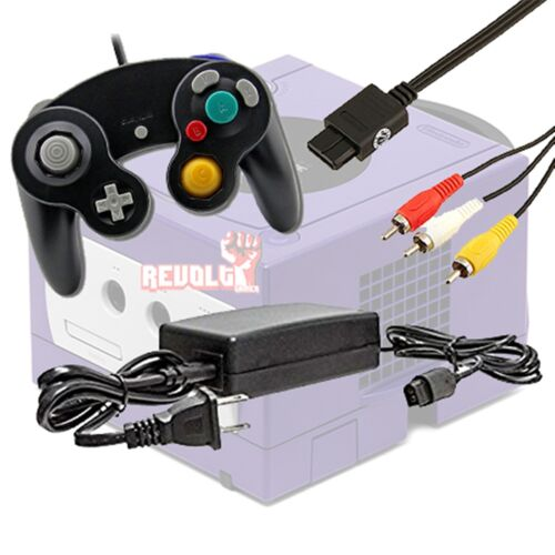 Gamecube Starter Bundle - Controller, Power Adapter, and AV Cable New & Sealed