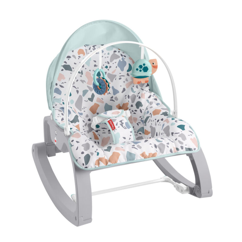 Fisher Price Infant to Toddler Portable Deluxe Baby Seat Rocker, Pacific Pebble