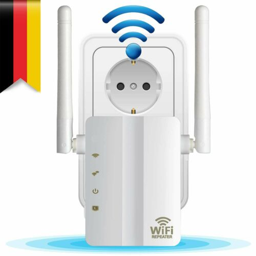 Wireless WLAN Repeater Signal Verstärker WiFi Router WPS 300Mbps mit 2 Antenne