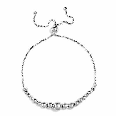 Fashion Bolo Bracelet 925 Sterling Silver Jewelry For Women Ct 2.8 Adjustable