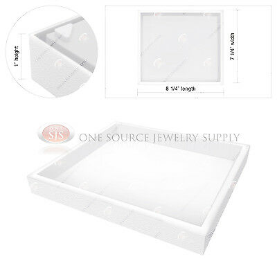 Stackable 1 White Plastic Jewelry Display Half-tray Hobby Storage Organizer