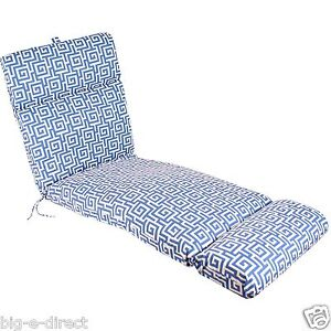 REPLACEMENT OUTDOOR PATIO LOUNGE CHAISE CHAIR SEAT CUSHION PAD - OSKAR SEA