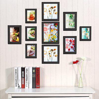 10er Set Fotorahmen 10 Einzel Bilderrahmen Poster Foto Collage Hausdeko Schwarz
