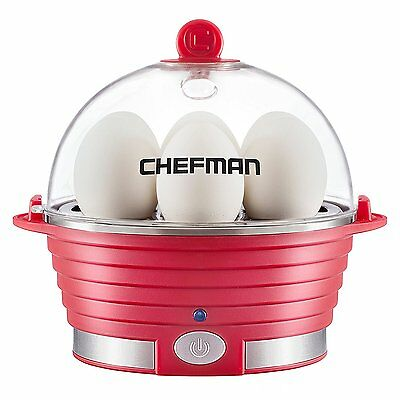 Steamer Boiler (Egg Cooker Boiler Steamer Poacher RED 6 Egg Capacity Electric - Open Box )