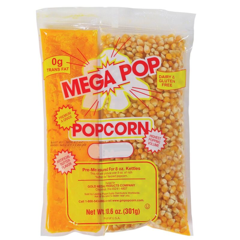 Mega-Pop Popcorn Kit 8 oz. - 24 Pack
