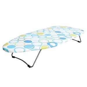 Folding Top Table Ironing Board Compact Foldable Travel Camping Space Saver