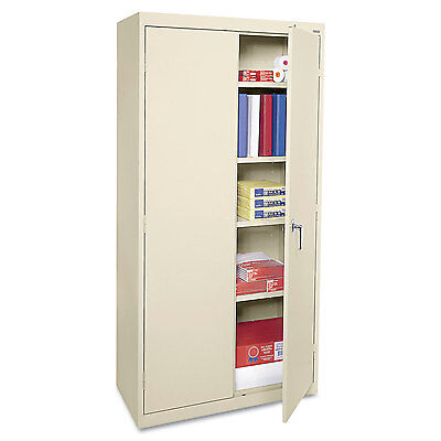 Alera Economy Assembled Storage Cabinet, 36w x 18d x 72h, Putty CME7218PY