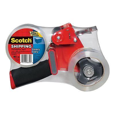 Scotch Heavy Duty Shipping Tape Dispenser W 2 Rolls Of Tape 1.88in X 60 Yds