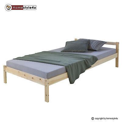 Holzbett Jugendbett Kinderbett 90x200 Bett Holz Tagesbett Einzelbett Bettgestell
