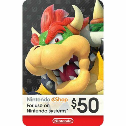 Nintendo US eShop USD 50 Card Switch 3DS WiiU