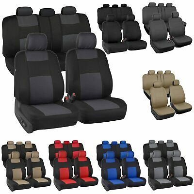 Auto Seat Covers for Car Truck SUV Van - Universal Protectors Polyester 8 Colors