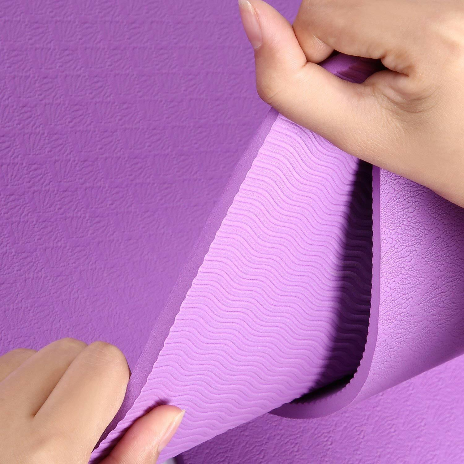 HiHill Yoga Mat, -TPE Non Slip, High Density, with Carry Bag (YG-M1, Purple) 6