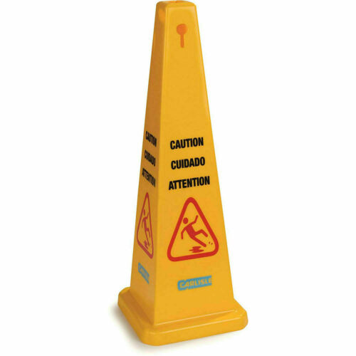 """Carlisle 3694104 Caution Cones And Barriers Caution Cone 36"""", Yellow"""