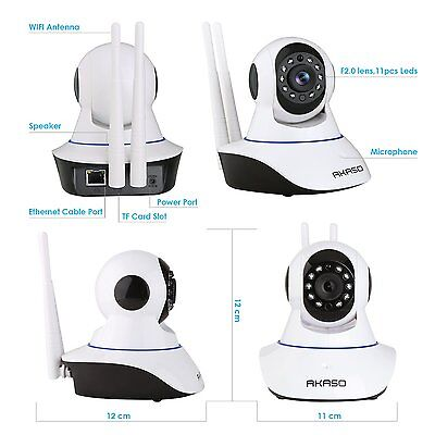 Wireless Wifi Ip Security Camera Indoor Home Surveillance Baby Monitor 1280 720P