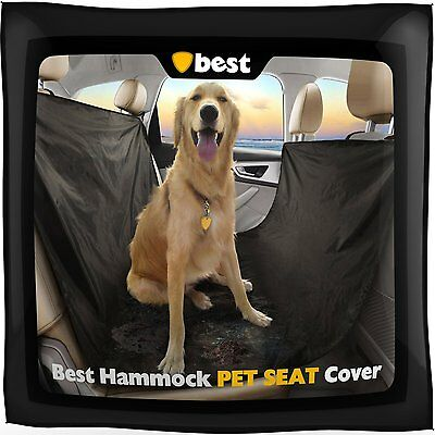 Waterproof Dog Car Seat Cover Hammock for Cat Pet SUV Van Back Rear Bench (Best Dog Car Hammock)