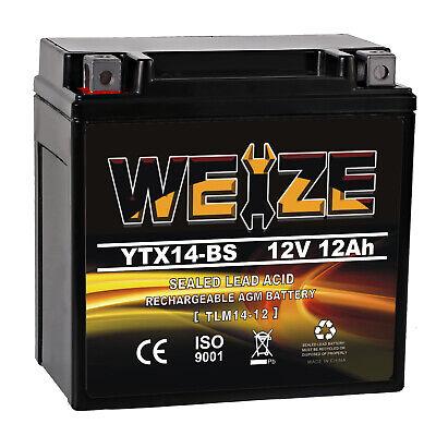 AGM Battery for Honda TRX 500 420 450 350 300 Rubicon Foreman Rancher FourTrax