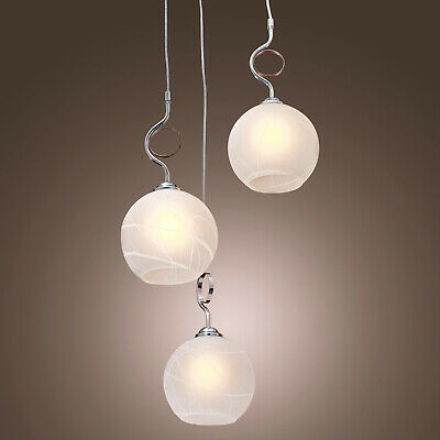 Modern Globe Shaped Ceiling Pendant Light with a Round Canopy 3-Light 110V 3 Light Round Canopy