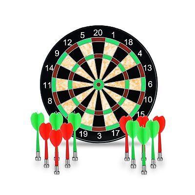 17'' Magnetic Dart Board Dartboard 12Pcs Magnet Darts Party Game Kids Child Safe