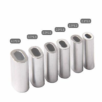 600pcs Aluminum Single Barrel Crimp Sleeves Line Tubes Leader Rigging Connector