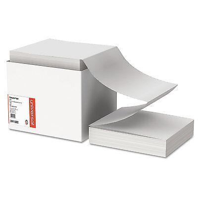 Universal Computer Paper 20lb 9-1/2 x 11 Letter Trim Perforations White 2400