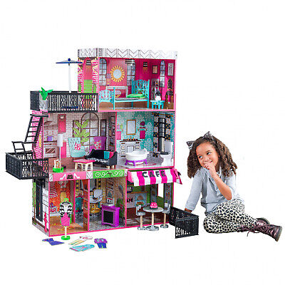 Dream House Size Dollhouse Furniture Girls Playhouse Play Fun Townhouse NEW