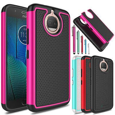 For Motorola Moto G5 G5s Plus Shockproof Hybrid Hard Slim Armor Phone Case Cover