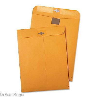 Quality Park Postage Saving Clearclasp Kraft Envelopes9 X 12 Brown Kraft 100box