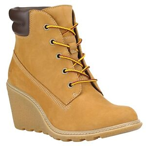 Womens Timberland Wedge Heel Boots 97