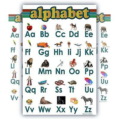 Learning Alphabet ABC Chart White Laminated Classroom Poster (Learning Posters)