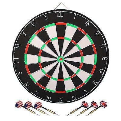 Longfield 065001 Dartspiel Dartscheibe Steel-Darts SET Dartboard und 6 Pfeile