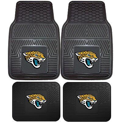 NFL Jacksonville Jaguars Front Rear Car Truck Rubber Vinyl All Weather Floor Mat Jacksonville Jaguars Nfl Car Mats