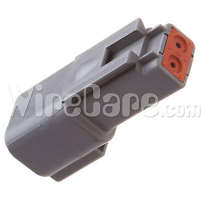 DT04-2P - DT Series - 2 Pin, Receptacle, Gray (Pack of 10)