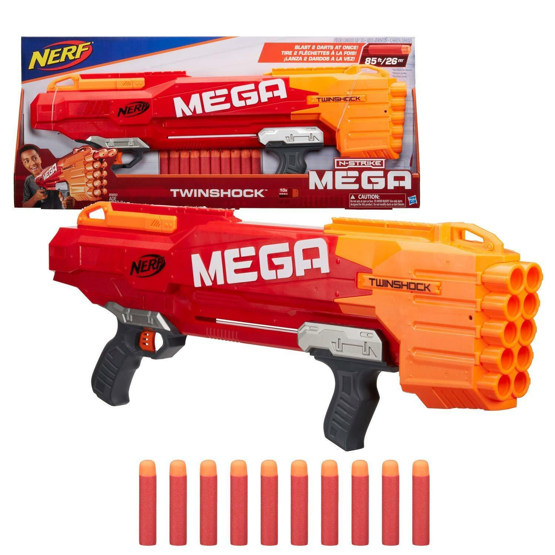 Nerf N Strike Mega Twin Shock Blaster Dart Gun Toy Blasters