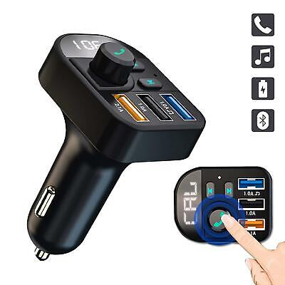 FM Transmitter Wireless Radio Bluetooth Dual USB Car charger Handsfree Calls