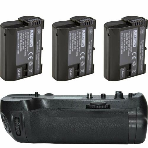 MB-D18 Replacement Battery Grip for Nikon D850 + 3 EN-EL15 Batteries
