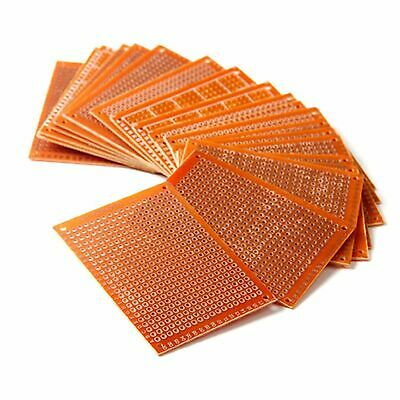 Orange 10 Pcs 5x 7cm Pcb Prototype Breadboard Perf Universal Board Diy Practical